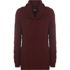 See this and similar WearAll sweaters - Update your winter wear with this stunning long sleeve knitted jumper. Featuring an ever stylish chunky cable knit, cowl...