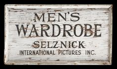 1940s studio-lot wooden signs, 3 for David O. Selznick : Lot 617