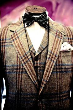 Bold brown check with blue & burgundy accent