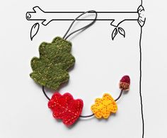 Fall home decor autumn leaves felt garland by InspirationalGecko, €19.00