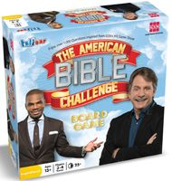 BackDetailsEnjoy over 1,000 questions from GSN's hit game show featuring Jeff Foxworthy! Product Description What do you Noah about the Bible? Inspired by the award-winning Game Show Network program, The AMERICAN BIBLE CHALLENGE Board Game is sure to bring plenty of fun to you and your friends! As in the TV show, teams must first come up with a team name which they write in the Bible podium area directly on the game board. Play consists of teams advancing around the board by answering…