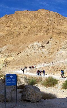 Mountainside trail in Masada, Israel. https://www.flickr.com/photos/laurapadgett/3834781569/