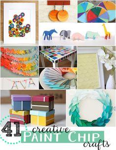 41 creative paint chip crafts