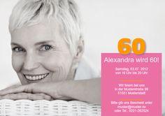 Einladungskarte 60. Geburtstag Alexa