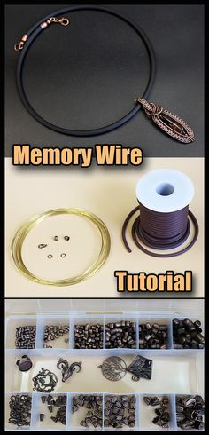 Memory wire. Step by step tutorial for beginners. Memory Wire – What exactly is it Memory wire is a stiff, steel wire which has a shape of a circle. It may be sized and colored in different ways. This wire suits for making bracelets, chokers and necklaces, it keeps the shape of a circle really well. This wire gives us an opportunity to make fancy jewelry really fast.