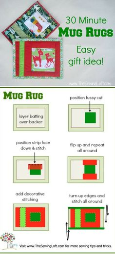 This quick sew project is perfect for using up smaller scraps. This quick sew project is perfect for using up smaller scraps. Mug Rug Patterns, Quilt Patterns, Placemat Patterns, Canvas Patterns, Sewing Patterns, Small Quilts, Mini Quilts, Sewing Hacks, Sewing Crafts