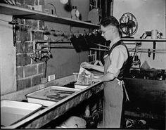 Joe Imlay, State Journal photographer in darkroom, October 13, 1937. file/The State Journal-Register.