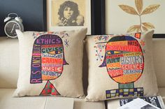 Girl  Linen Cushion covers/pillow cover, 45x45cm