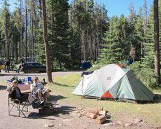 Camp Here: Tunnel Mountain Village Banff National Park www.glutenfreetravelette.com #banff