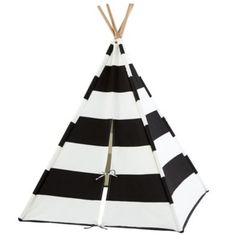 Sale ends soon. Our kids teepee or kids tent in black and white stripes is the perfect modern escape for your little one and a welcome addition to their playroom. Kids Tents, Teepee Kids, Cat Teepee, Teepee Tent, Celebrity Nurseries, Canvas Teepee, Canvas Fabric, Cotton Canvas, Black White Stripes
