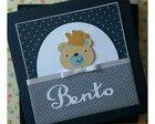 Livro do bebê com caixa ursinho principe