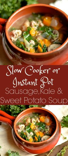 Simple and delicious dinner recipe with instructions for BOTH slow cooker and Instant Pot!! Paleo, Whole30, and GF.