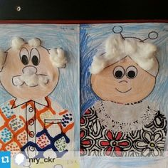 Kinderboekenweek 2016, opa en oma knutselen Grandparent's day craft idea for…
