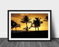 Palm Tree Sunset, Palm Trees, Palm Tree Decorations, International Paper Sizes, Photo Tree, Photo Quality, Prints For Sale, Fine Art Photography, Digital Prints
