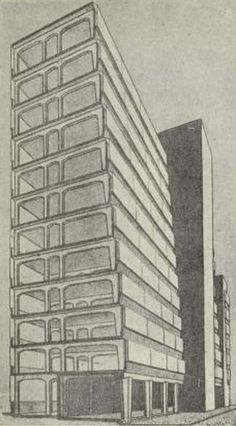 Office Building 1922 by Mart Stam