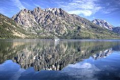 If you go to Wyoming, you can't miss the Grand Teton mountains reflection in Jenny Lake