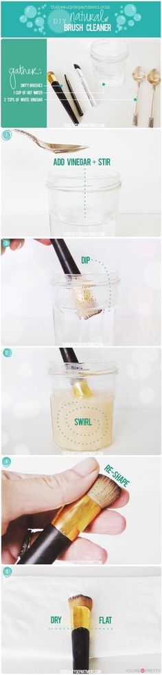 DIY Makeup Brush Cleaner | How to clean makeup brushes and how to wash makeup brushes at You're So Pretty | #youresopretty | youresopretty.com