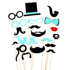 DIY- 20 Photo Booth Props - Mustache Moustache Bash - Birthday Party - Little Man - Gender Reveal WEDDINGS
