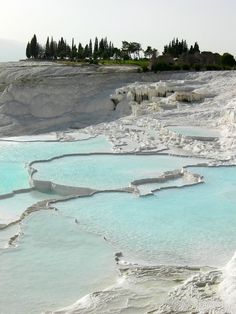 Pamukkale or Cotton castle-Biggest hot spring natural spa in Turkey would love to go there sometime soon.