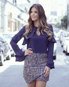 trend alert looks Skirt Outfits, Cool Outfits, Fashion Outfits, Womens Fashion, Fashion Trends, Blouse Styles, Blouse Designs, Mode Simple, Office Outfits