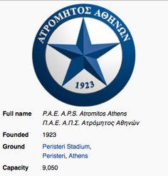 Atromitos F.C. ~ Athens ~ Greece