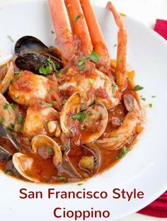 Best Cioppino Recipe, Bouillabaisse Recipe, Authentic Cioppino Recipe, Seafood Cioppino, Seafood Stew, Seafood Pasta, Fish Dishes, Seafood Dishes, Main Dishes