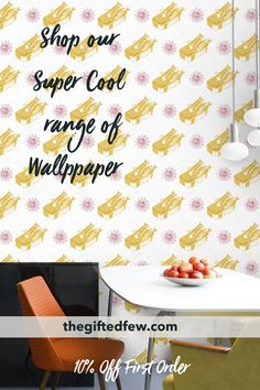 Shop our wallpaper range to make a statement with your style! Cool, quirky wallpaper perfect for bedrooms, livingrooms, kitchens, bathrooms and beyond! Home Decor Trends, Home Decor Styles, British Home Decor, Contemporary Wallpaper, Uk Homes, New Wallpaper, Designer Wallpaper, Vintage Designs, Wall Decor