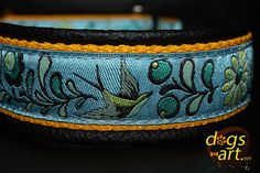 Handmade Martingale Leather Dog Collar SUMMER by dogsartcollars