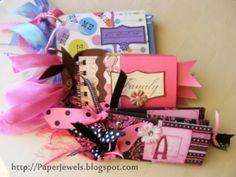 Love the idea of these mini-scrapbooks.  Could be a cute invitation, too!