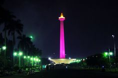 We lit up Indonesia's National Monument pink for Breast Cancer Awareness 2013 | #BCA