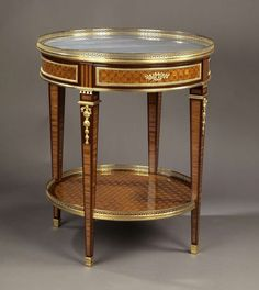 For Sale on - A Louis XVI style gilt bronze-mounted parquetry gueridon with a marble top. French, circa A Louis XVI style gilt bronze-mounted parquetry gueridon Vintage Furniture Design, Victorian Furniture, French Furniture, Classic Furniture, Furniture Styles, Fine Furniture, Table Furniture, Luxury Furniture, Antique Furniture