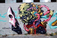 A selection of the street art creations of the Spanish artist and illustrator DEIH, based in Valencia, who is mixing science fiction and fantasy into beautifu