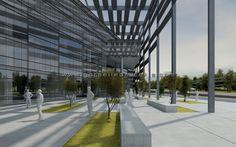 İzmir Konak Belediye Binası Yarışma Projesi, Görselleştirme Çalışması.  Proje Müellifi: Zambak Mimarlık