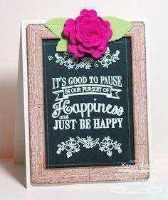 Chalkboard Greetings; You're so Special to Me; Western Backgrounds; Chalkboard Frame Builder Die-namics; Mini Hybrid Heirloom Rose Die-namics; Royal Leaves Die-namics; Photo Corners Die-namics - Karen Motz