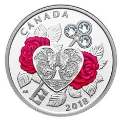 2018 Celebration of Love - Pure Silver Coin made with Swarovski® Crystals