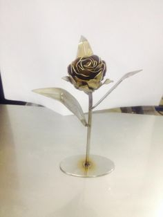 Stainless Rose With Heat Patina www.plasma-art.com.au