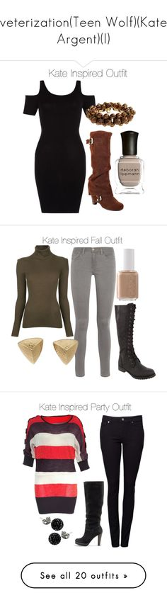 """""""veterization(Teen Wolf)(Kate Argent)(I)"""" by nessiecullen2286 ❤ liked on Polyvore featuring Naughty Monkey, Deborah Lippmann, Emilio Pucci, MICHAEL Michael Kors, Frame, Windsor Smith, Essie, Givenchy, Rare London and Witchery"""