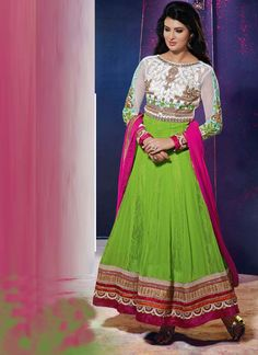 Ethnic Anarkali Suit For Ethnic Collection (156D) Please visit below link http://www.satrani.com/search&filter_name=156d  For more queries,  email id: inquiry@satrani.com Contact no.: 09737746888(whats app available)