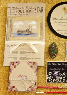 Vintage Riverboat Wedding