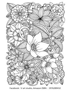 Flower Coloring Sheets Adult Pages Book Printable Floral Doodle Color Patterns