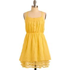 Liked and Lovely Dress in Goldenrod
