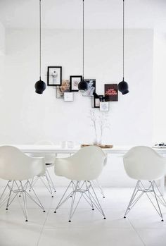 #white #diningroom & #eames chairs