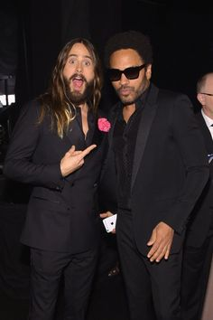 Pin for Later: Les Moments les Plus Mignons et les Plus Random des SAG Awards Jared Leto et Lenny Kravitz