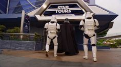 Darth Vader goes to Disneyland as he waits for Star Tours to open - Comm...