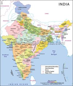 12 best maps images on pinterest india map maps and cards buy india large color map highlights states in different colors with country capital major cities state and international boundaries gumiabroncs Gallery