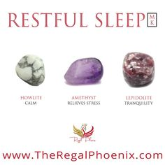 The Restful Sleep Mini Kit, handpicked by The Regal Phoenix is a beautiful combination of Howlite, A Chakra Crystals, Crystals And Gemstones, Stones And Crystals, Crystal Guide, Crystal Magic, Crystals For Sleep, Crystal Healing Stones, Crystals For Healing, Crystal Meanings