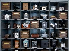 Camera collection @natalme blog // ideas for displaying my cameras