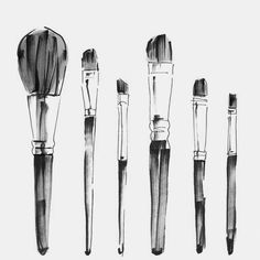 Make- up brushes.