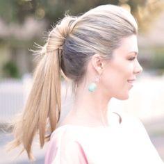 Pretty Ponytail Twist Hair Tutorial {video}