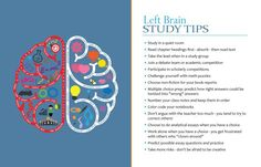 Characteristics of Left Brain Dominant Students | Pinning this to help me later